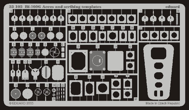 Eduard Details 1/32 Aircraft- Bf109G Scribing Templates & Acc for HSG