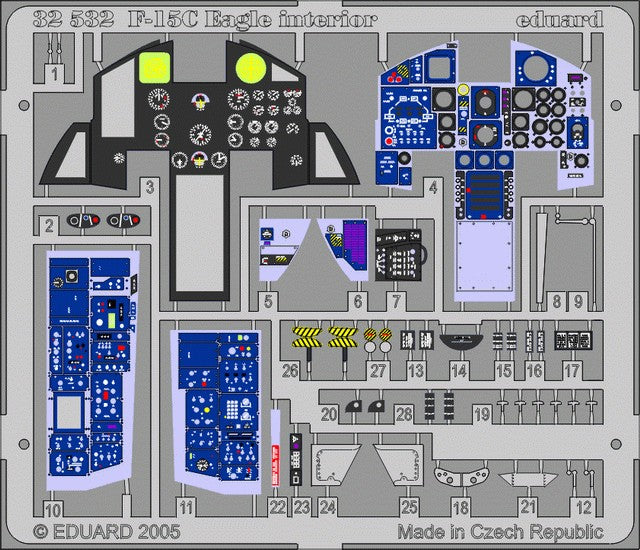Eduard Details 1/32 Aircraft- F15C Eagle Interior for TAM (Painted)