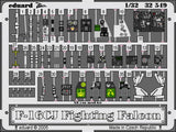 Eduard Details 1/32 Aircraft- F16CJ Interior for ACY (Painted)