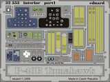 Eduard Details 1/32 Aircraft- P40B Interior for TSM (Painted)