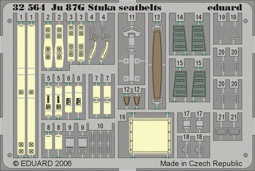 Eduard Details 1/32 Aircraft- Seatbelts Ju87F Stuka for HSG (Painted)