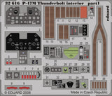 Eduard Details 1/32 Aircraft- P47D20 Thunderbolt Interior for TSM (Painted Self Adhesive)