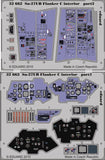 Eduard Details 1/32 Aircraft- Su27UB Flanker C Interior for TSM (Painted Self Adhesive)
