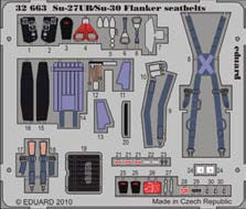 Eduard Details 1/32 Aircraft- Seatbelts Su27UB/Su30 Flanker for TSM (Painted)