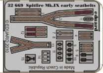 Eduard Details 1/32 Aircraft- Seatbelts Spitfire Mk IX Early for TAM (Painted)