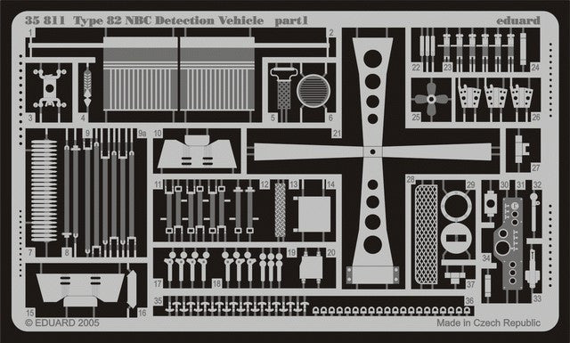 Eduard Details 1/35 Armor- Type 82 NBC Detection Vehicle for TSM