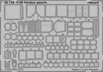 Eduard Details 1/48 Aircraft- T28 Surface Panels for ROD (Painted Self Adhesive)