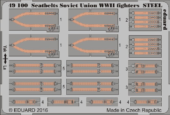 Eduard Details 1/48 Aircraft- Seatbelts Soviet Union Steel Fighter WWII (Painted)