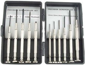 Excel Tools Screwdriver Set: 6 flat 3 Phillips, Awl & Magnet w/Swivel Handles (Plastic Case)