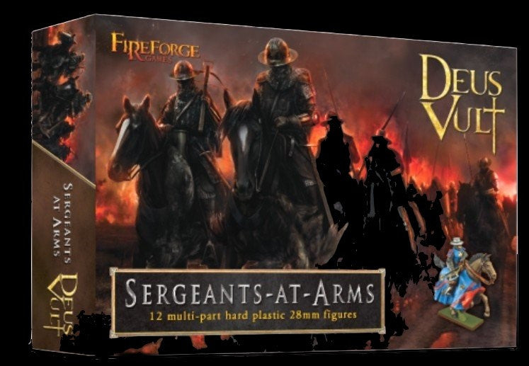 Fireforge Games 28mm Deus Vult Sergeants at Arms (12 Mtd) Kit