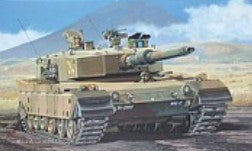 Fujimi Military 1/76 Type 90 SWA 6 JGSDF Japanese Tank Kit