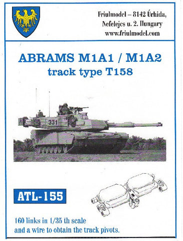 Friulmodel Military 1/35 Abrams M1A1/M1A2 Type T158 Track Set (160 Links)