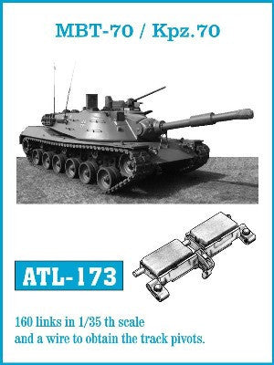 Friulmodel Military 1/35 MBT70/Kpz70 Track Set (160 Links)