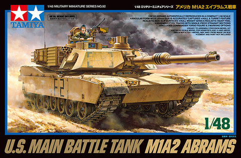 Tamiya Military 1/48 US M1A2 Abrams Main Battle Tank (New Tool) Kit