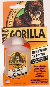 Gorilla Glue 2oz Bottle Dries White Gorilla Glue