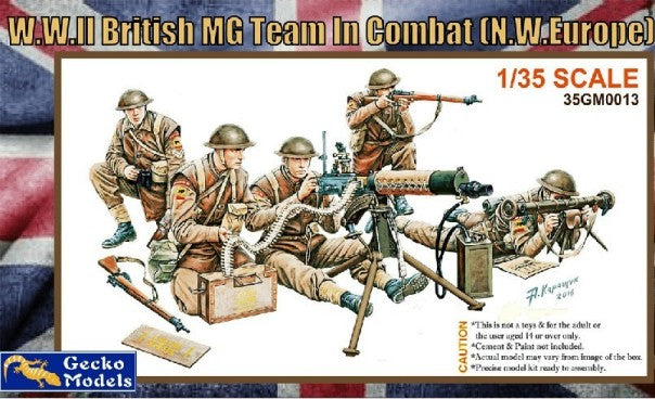 Gecko 1/35 WWII British MG Team in Combat NW Europe (5) (New Tool) Kit
