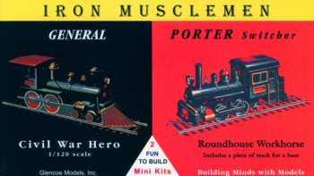 Glencoe Military 1/120 Iron Musclemen Locos General Civil War Hero & Porter Switcher Kit