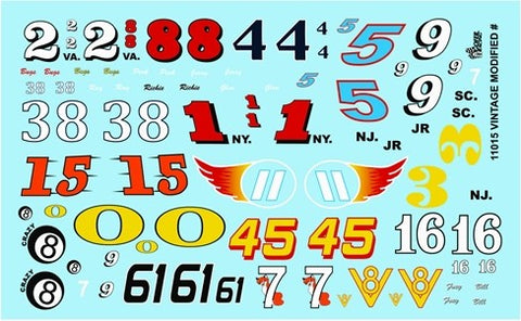 Gofer Decals 1/24-1/25 Vintage Modified Car Numbers