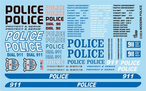 Gofer Decals 1/24-1/25 Modern Police Graphics