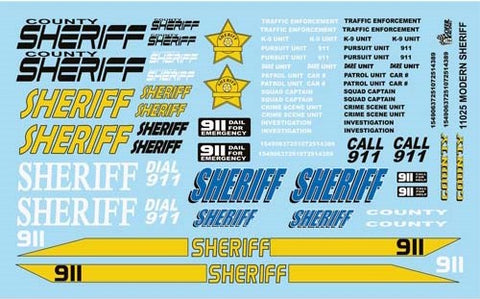 Gofer Decals 1/24-1/25 Modern Sheriff Graphics