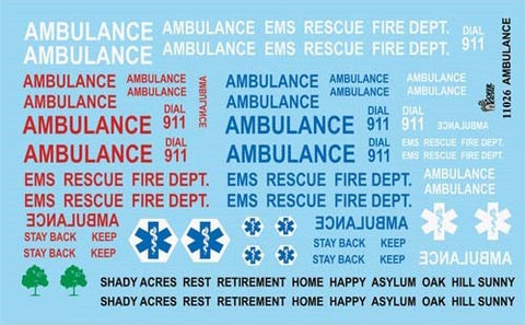 Gofer Decals 1/24-1/25 Ambulance Graphics