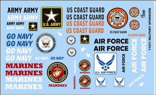 Gofer Decals 1/24-1/25 Armed Services Military Logos