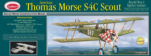 "Guillows 1/14 (24"") Wingspan Thomas Morse Scout Laser Cut Wooden Kit"