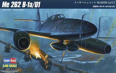 Hobby Boss Aircraft 1/48 Me-262B-1A/U1 Kit