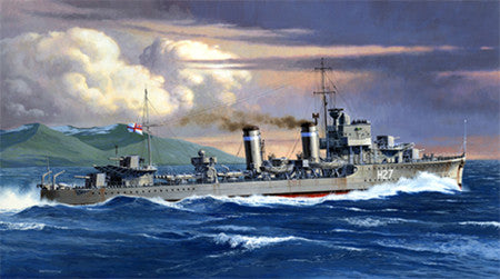 Tamiya Model Ships 1/700 HMS E Class Destroyer Waterline Kit