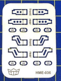 Highlight Model Studio 1/24-1/25 VW Beetle Bumper Front & Rear Brackets for TAM (2 Different Designs)