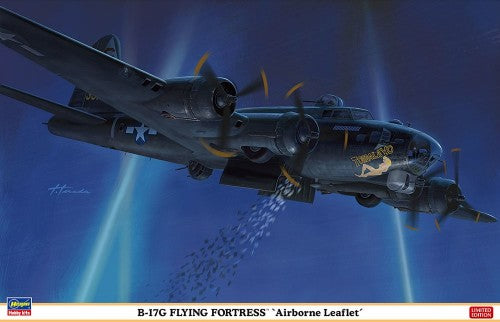 Hasegawa Aircraft 1/72 B17G Flying Fortress Airborne Leaflet Bomber Ltd Edition Kit