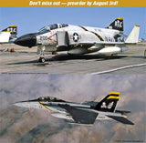 Hasegawa Aircraft 1/72 F4J Phantom II & F/A18F Super Hornet Jolly Rogers USN Jet Fighter Ltd. Edition (2 Kits)