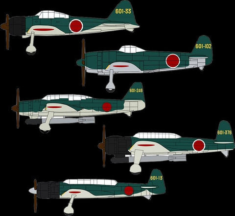 Hasegawa Ship Models 1/450 Japanese Navy Carrier-Based Aircraft Set (18 Total) Kit