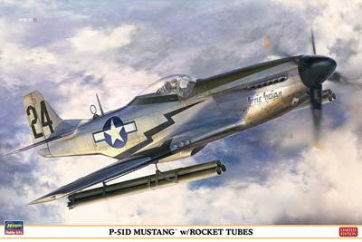 Hasegawa Aircraft 1/32 P-51D Mustang with Rocket Tubes Limited Edition Kit
