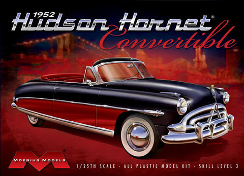 Moebius Model Cars 1/25 1952 Hudson Hornet Convertible Kit
