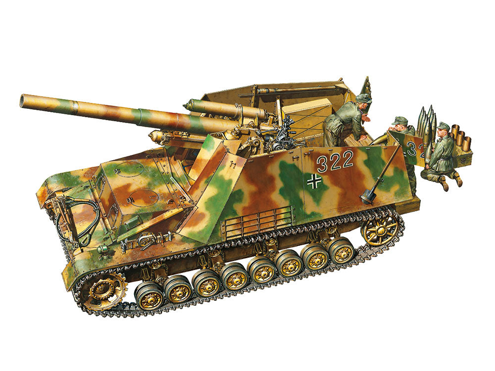 Tamiya Military 1/35 German SdKfz 165 Hummel Late Production Heavy Self-Propelled Howitzer (New Tool) Kit