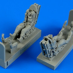 Aerobonus Details 1/48 A37 Dragonfly USAF Pilot & Operator w/Ejection Seats for TSM Resin Kit