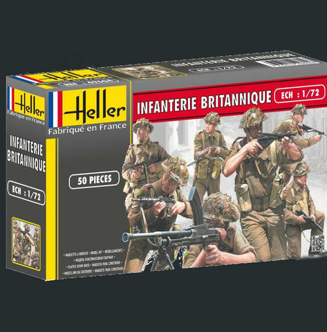 Heller Military 1/72 British Infantry (50) Kit
