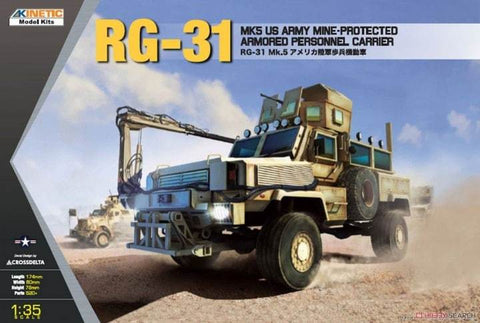 Kinetic Military 1/35 RG-31 Mk5 US Army Mine-protected Armored Personnel Carrier Kit