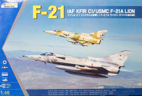 Kinetic Aircraft 1/48 AF Kfir C1/USMC K-21A Lion Kit