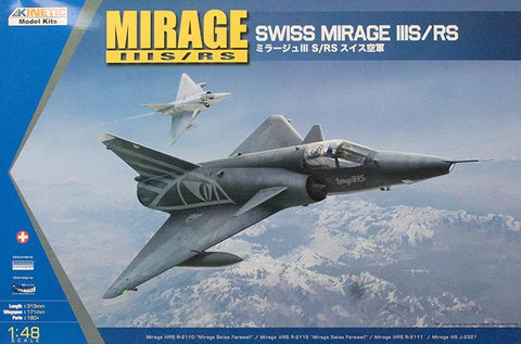 Kinetic Aircraft 1/48 Swiss Air Force Mirage IIIS/RS Kit