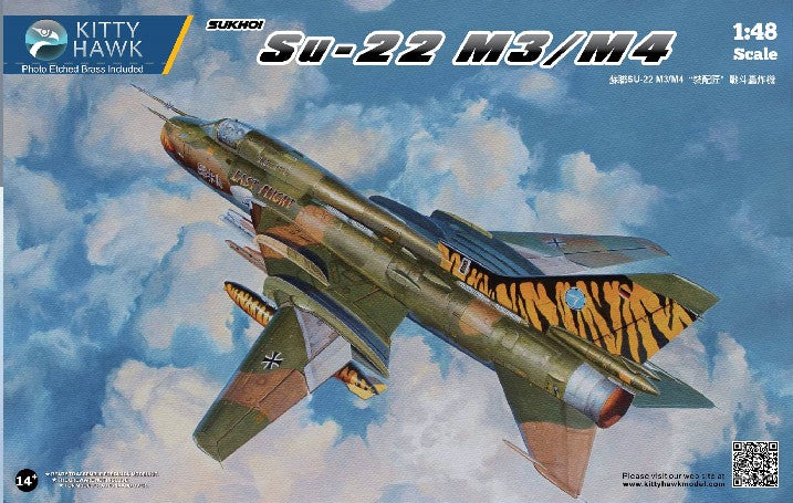 Kitty Hawk Aircraft 1/48 Su22 M3/M4 Russian Fighter (New Tool) Kit