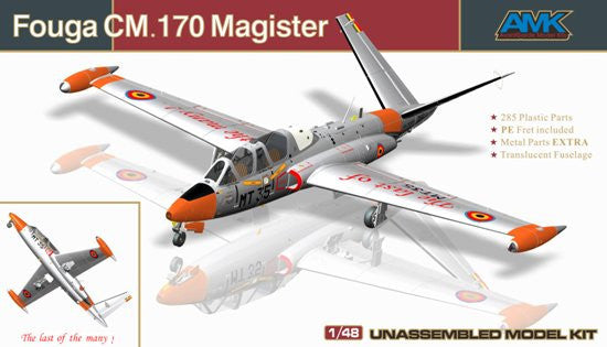 AMK Models Aircraft 1/48 Fouga CM170 Magister 2-Seater French Jet Trainer Kit
