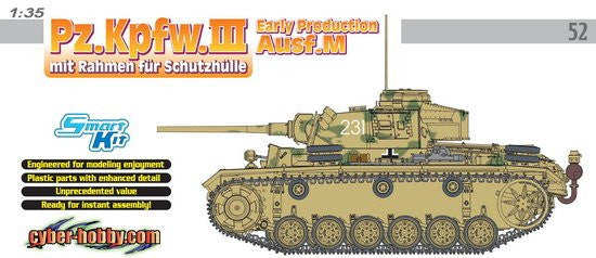Cyber-Hobby Military 1/35 PzKpfw III Ausf M Early Tank Kit