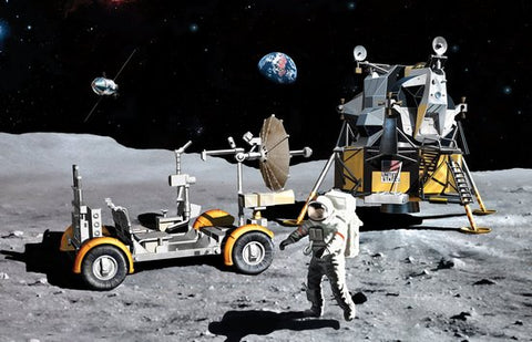 Dragon Space 1/72 NASA: Apollo 17 Last J-Mission CSM, Lunar Module & Lunar Rover (Kit) (Re-Issue) Kit