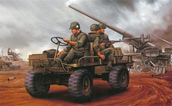 Dragon Military Models 1/35 Mechanical Mule Military Vehicle w/3 US Marines Kit