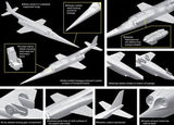 Dragon Models Aircraft 1/144 X3 Stiletto USN Experimental Jet Aircraft Twin Pack Kit