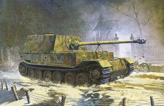 Dragon Military Models 1/35 SdKfz 184 Elefant Tank w/Zimmerit Kit