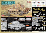 Dragon Military Models 1/35 SdKfz 182 sPzAbt505 King Tiger Henschel Production Tank w/Zimmerit Russia 1944 (2 in 1) Kit
