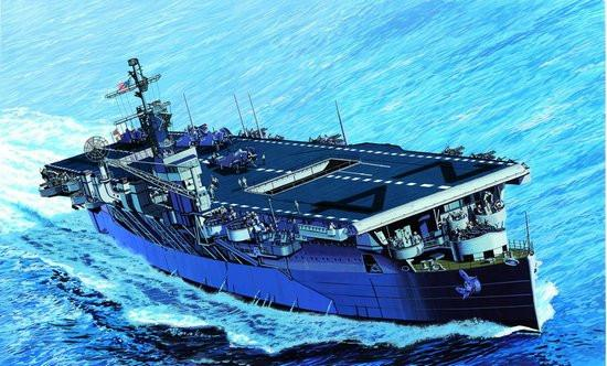 Dragon Model Ships 1/700 USS Belleau Wood CVL24 Aircraft Carrier (Re-Issue) Kit